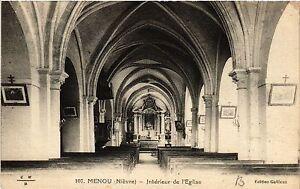 CPA MENOU - Interieur de l'Église (456878)