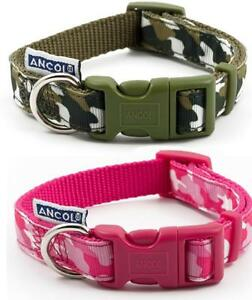 Ancol-Indulgence-verde-y-Rosa-Camuflaje-regulable-Nailon-Perro-Cachorro