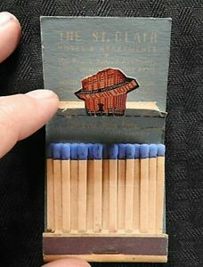 "1940s ""The Hotel St. Clair"" Pop-up Feature Matchbook Chicago IL Streeterville"