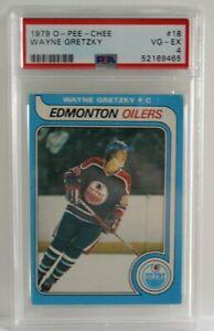 1979 '79 O-PEE-CHEE Hockey #18 Wayne Gretzky Rookie Card RC Graded PSA 4 VG-EX