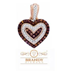 Brandy Diamond® Chocolate Brown 10K Gold Heart In My Heart Necklace Pendant