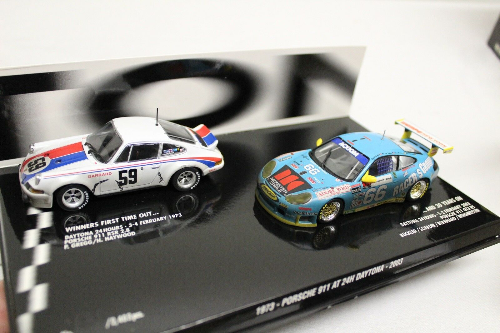 Minichamps 911 rsr 2.8 + gt3 RS at 24 h Daytona 1973 Limited Edition 1 43 nuevo