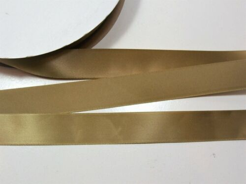 Offray Single-Faced Antique Gold Satin Ribbon 7//8 Inch Wide x 10 yd Gold Ribbon