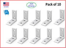Pack Of 10 2525 Series 10 Series Aluminum 4 Hole Inside Corner Bracket
