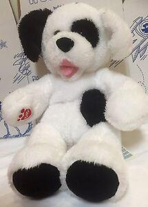 Build A Bear Cookies Cream Pup Plush Black White Dog Toy Stuffed