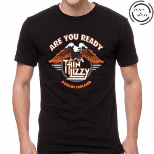 Thin Lizzy Dublin Logo Rock Legend Men/'s Black T-Shirt Size S M L XL 2XL 3XL