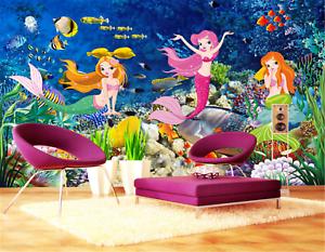 3D Marine Meerjungfrau 8983 Tapete Wandgemälde Tapeten Bild Familie DE Lemon