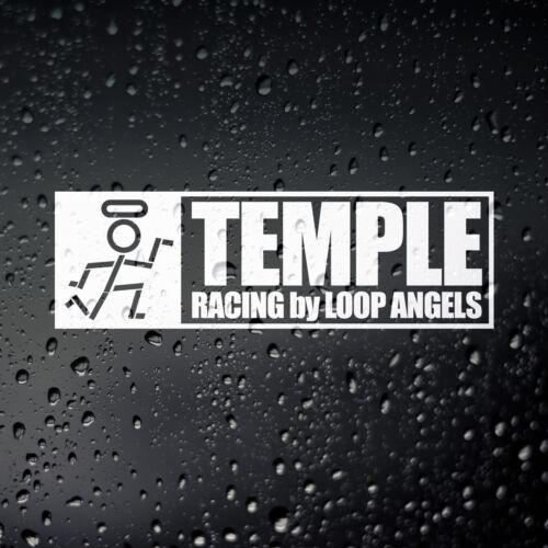 Temple Racing Loop Angels JDM Car Sticker Japanese Kanji Kanjo Civic EG EK