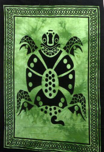 Tapestry Tie Dye Green Indian Mandala Poster Wall Hanging Yoga Mat Decor Throw