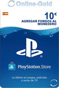 PlayStation PSN Tarjeta Prepago 10€ - 10 Euro Sony PS3 PS4 PS Vita Código - ES