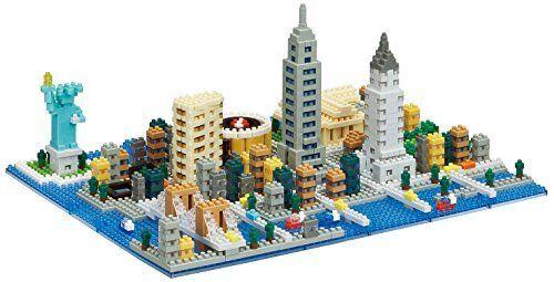 Kawada nanoblock NB-033 New York block puzzle
