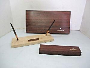 Strange Details About Vintage Sheaffer Marble Base 2 Ballpoint Pen Desk Set Award Tr3 47076 Interior Design Ideas Helimdqseriescom