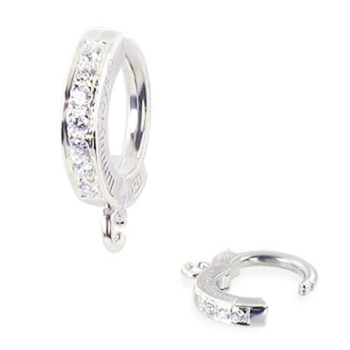 63070 Tummytoys Diseño año propio ombligo anillo de plata Pave conjunto con czs /& Jump Ring