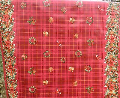 Christmas Print Vinyl PVC Tablecloth Wipe Clean Patio Oilcloth - 140cm Wide