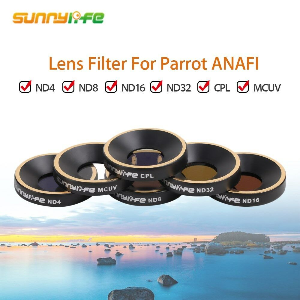 Lens Filter MCUV CPL ND4 ND8 ND16 ND32 Outdoor For Parred Anafi Drone FPV RC UK
