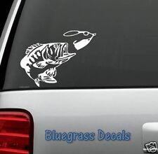 BASS FISHING SPINNER BAIT WINDOW VINYL DECAL STICKER