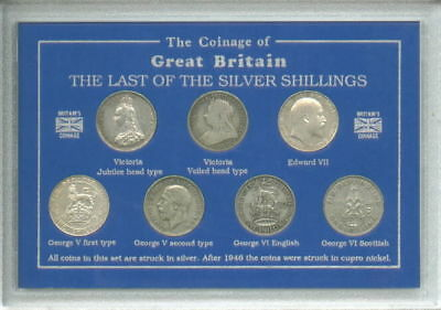 Last of the Silver Shillings Coin Shilling Types Collector Collecting Gift Set