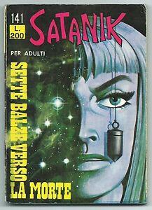 SATANIK-N-141-Sette-balze-verso-la-morte-Ed-Corno-1970-Originale