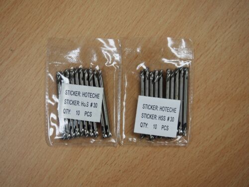 20PC #30 DOUBLE END DRILL BITS FULL GROUNDED