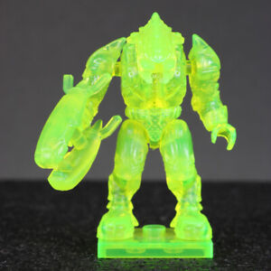 "Halo Mega Bloks Yellow Active Camo Covenant ELITE 2"" Mini Action Figure HTF"