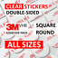 thumbnail 1 - CLEAR Double Sided Sticky Pads, 3M VHB 4910 Strong Heavy Duty Adhesive Tape