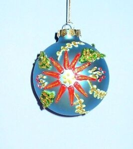 Puffy Paint Glass Ornaments