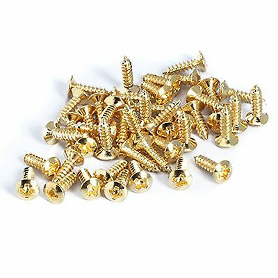 Golden Guitar Bass Pickguard Screw For ST TL SG LP Guitar Pack of 50