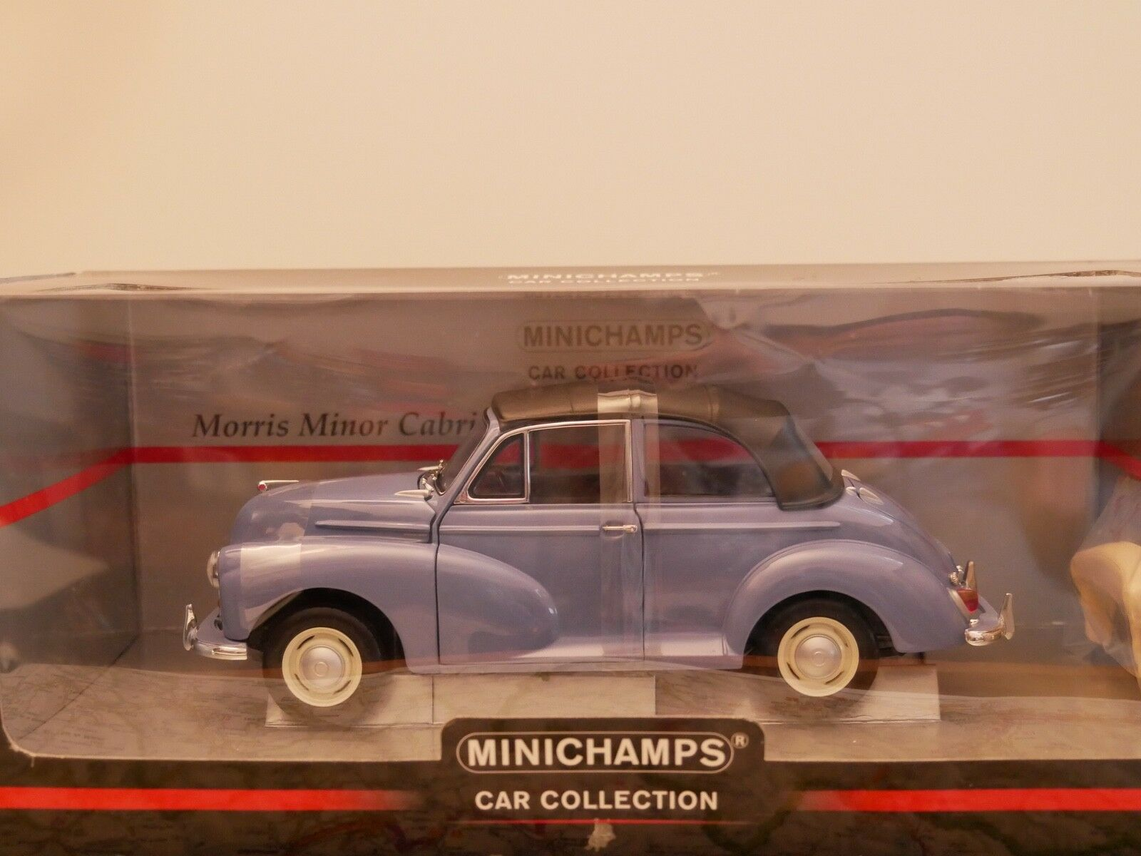 MINICHAMPS MORRIS MINOR CABRIOLET blu   ART. 150137030  NEW DIE-CAST 1 18
