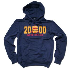HAKA-New-Zealand-Rugby-Est-2000-Hooded-Sweatshirt-M-XXL-Navy