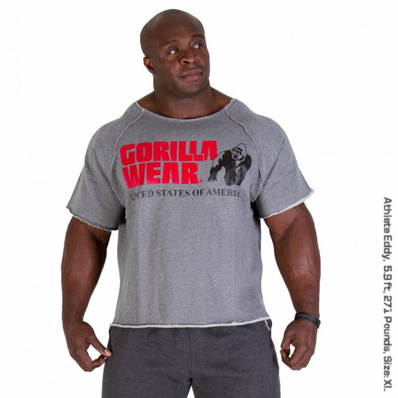 Gorilla Wear Classic Classic Classic Work Out Top Bodybuilding Rag Top Sportswear T-Shirt Gym 9e6ed7