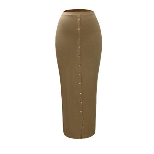Islam Women High Waist Slim Bodycon Skirt Muslim Stretch Long Maxi Pencil Dress