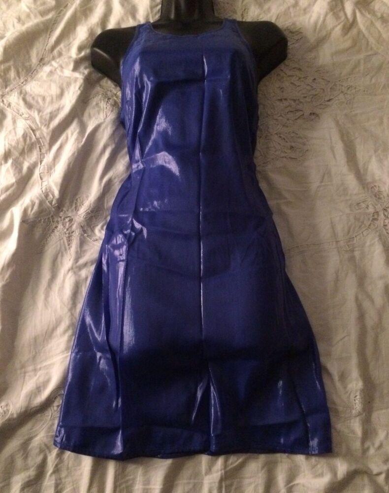 """(#1939) Reiss """"joyenne"""" Neuf Avec étiquettes Bleu Soie Mélangée Shift Robe Taille 8 Uk"""