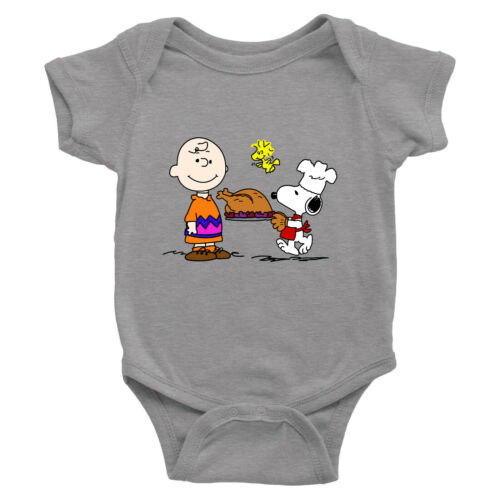 Charlie Brown Snoopy Thanksgiving Toddler Kids Tee T Shirts Infant Baby Bodysuit