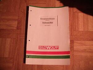 Ersatzteilliste SiloWolff Tiefenmeißel Typ N und Typ S - <span itemprop=availableAtOrFrom>Weinheim, Deutschland</span> - Vollständige Widerrufsbelehrung Widerrufsrecht: Sie haben das Recht, binnen vierzehn Tagen ohne Angabe von Gründen diesen Vertrag zu widerrufen. Die Widerrufsfrist beträgt vierzehn Tage  - Weinheim, Deutschland