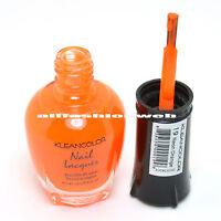 1 Kleancolor Nail Polish Lacquer 19 Neon Orange Manicure Pedicure