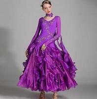 NEW Ballroom Competition Dance Dress Modern Waltz Tango Standard Dress Ladies