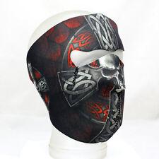 Biker Motorrad Face Mask Skull Totenkopf Celtic Cross Kreuz Ski Maske Sturmhaube
