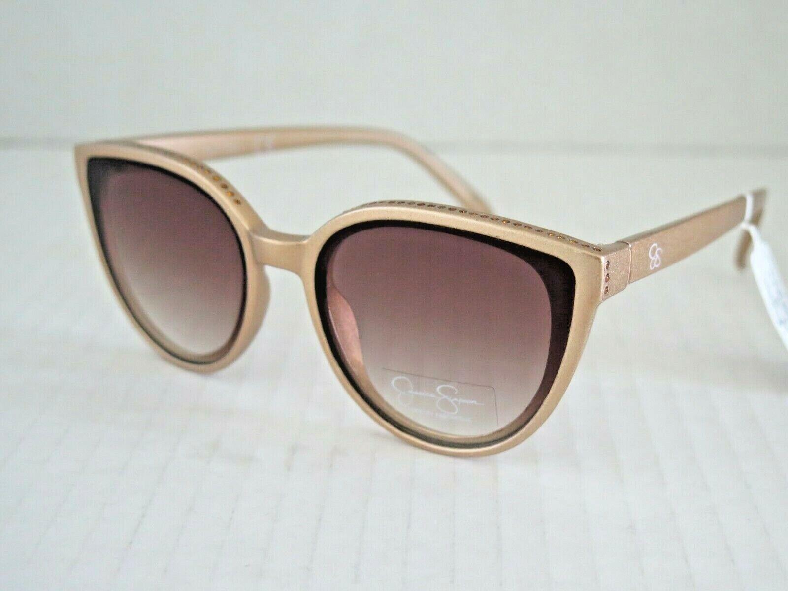 JESSICA SIMPSON J5961 CP CAT EYE Matte Gold Black Womens Sunglasses +