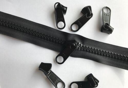 Tamaño #10 negro pesado deber continuo Vislon Zip-se puede cortar a cualquier longitud