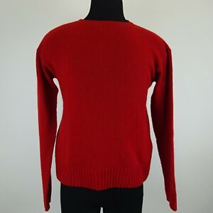 Prada Red Knitted Longsleeve Cashmere Sweater Size 48