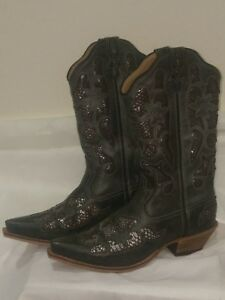 b6bab3b9d1b Details about NEW Twisted X Steppin Out Cowboy Western Leather Womens Boots  Snip Toe