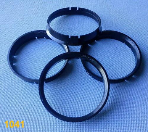 4x anillas de centrado 69,1 mm 65,1 mm negro para llantas de aluminio 1041