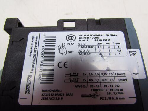 SIEMENS SIRIUS 3RT2015-1AV61 CONTACTOR 440//480V EXCELLENT TAKEOUT MAKE OFFER