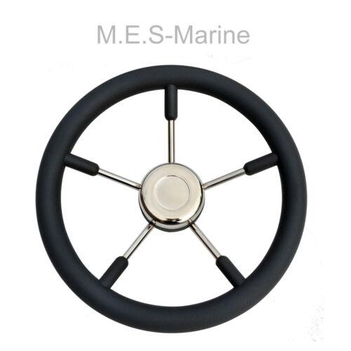 NEW MARINE BOAT STEERING WHEEL M.E.S for Cruiser Black Rib Fishing boats