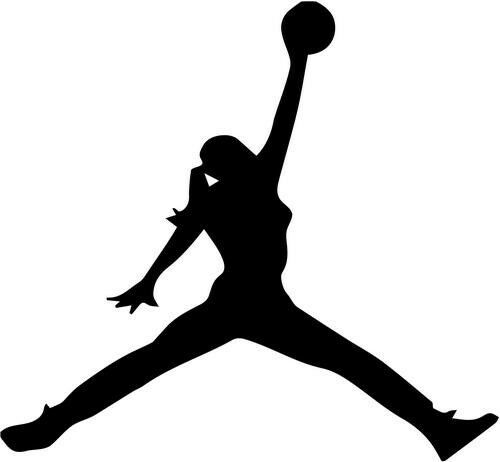 Jump Girl Basketball Home Decor Car Truck Window Decal Sticker