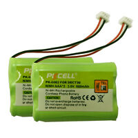 2xcoldless Phone Battery Nimh Aaa3 600mah 3.6v For Dect30 T016 Nortel 7420 7439