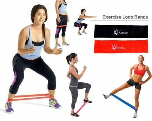 Details about  /Kemket Elastic Resistance Band Body Loop Training Band Yoga Exercise Fitness