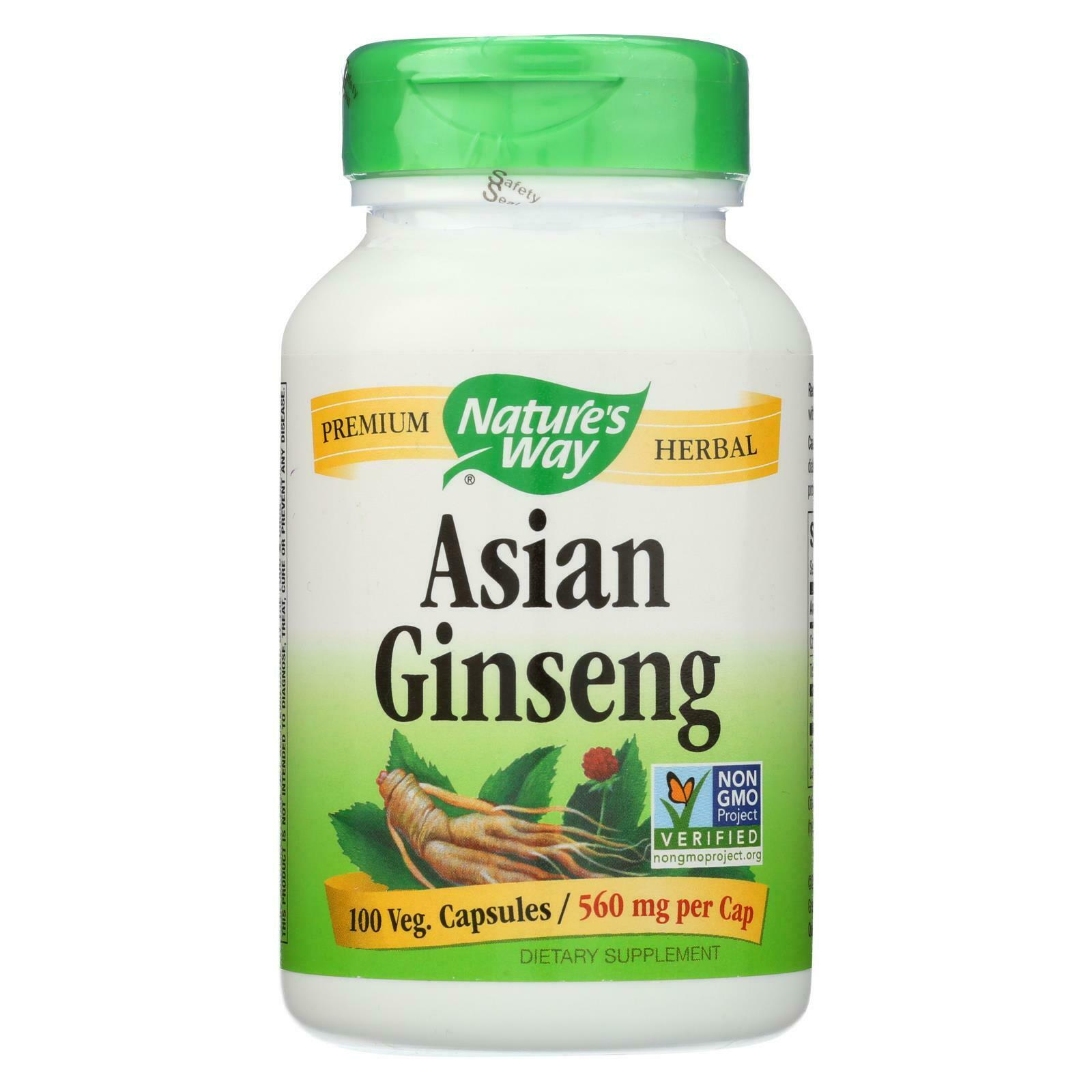 Nature's Way Korean Ginseng Root Chinese herb for vitality - 100 Capsules 1