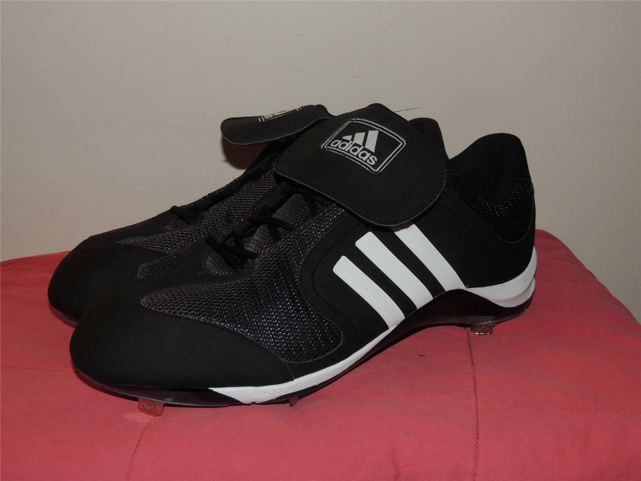 Adidas Excelsior 6 Low Metal Baseball Cleats Black/White Comfortable Brand discount