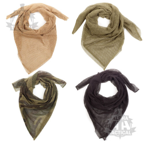 Sniper Veil Scrim Filet 100/% coton foulard large original Vail Militaire Sorgo
